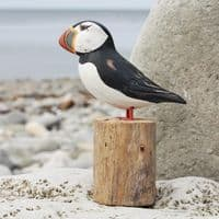 Puffin Carving Small | Hand Carved Puffin | Wooden Puffin | Bird Carving